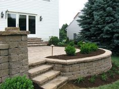 Patio Ideas: Build Raised Concrete Patio Paver Patios With Lighting Raised Patio Seat Wall Landscape Planting And Landscape Raised Deck Over Concrete Patio Diy Raised Concrete Patio: