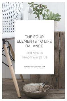 How to achieve life balance (four elements to a balanced life)