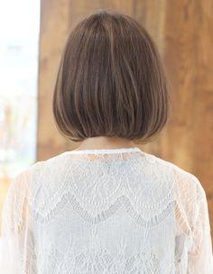 耳かけお洒落ボブ(TK-117)   ヘアカタログ・髪型・ヘアスタイル AFLOAT(アフロート)表参道・銀座・名古屋の美容室・美容院