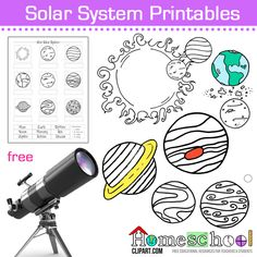 Solar System Coloring Pages, Worksheets & Notebooking Pages.  Great for an Astronomy Unit Study.