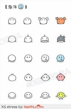 Cách vẽ động vật dễ thương theo cách đơn giản Part 3