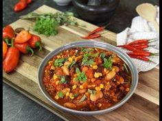 Chili con Carne Schritt für Schritt - YouTube Chana Masala, Soup, Ethnic Recipes, Youtube, Glamour, Stew, Fresh, Red Peppers, Homemade