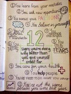 Bullet journal reminder that you're doing way better than you give yourself cred… – Health Life