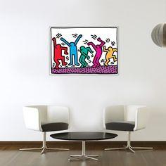 HARING - senza titolo 70x50 cm #artprints #interior #design #art #prints #Haring #ModernArt  Scopri Descrizione e Prezzo http://www.artopweb.com/EC21567
