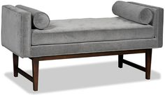 It won't take years of therapy to appreciate the merits of Ludwig, a bench reminiscent of the 1950's analyst's couch. Tufted bench cushion is set on a low-profile wood frame with tapered legs.