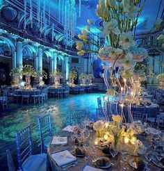 This reception room is TO DIE FOR! ••• xoxo riley  #under #the #sea