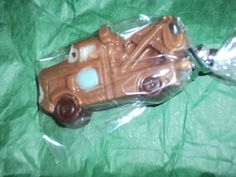 12 Disney Cars Lightning McQueen and Tow Mater Chocolate Lollipop Favor. $17.00, via Etsy.