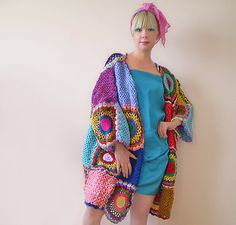 Plus Size Clothing Funky Cardigan all'uncinetto maglione