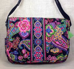 Vera Bradley Symphony In Hue Messenger Bag New Laptop Briefcase Bookbag Purse #VeraBradley #LaptopCase