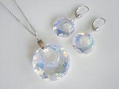 Swarovski Crystal AB Victory Ring Necklace by shopgemstone on Etsy, $44.00
