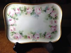 Limoges France Porcelain Hand Painted Dressing Table Tray by AlbertsonMiller on Etsy