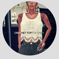 Crochet Top Fall Facebook Cover Photos, Sims 4, Crochet Top, Tank Tops, Women, Fashion, Moda, Halter Tops, Fashion Styles