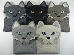 Cat iPad Air / 2 / 3 / 4 felt case by BoutiqueID on Etsy https://www.etsy.com/listing/78065188/cat-ipad-air-2-3-4-felt-case
