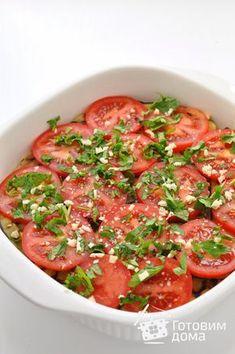 Рецепт Куриная грудка, запеченная с баклажанами и помидорами