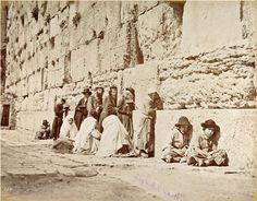 1870 Klagemauer Jerusalem  Album einer Reise durch Palästina und Ägypten / Frères BONFILS