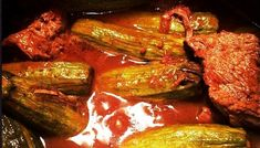 Μοσχαράκι κοκκινιστό με κολοκυθάκια | Συνταγές Steak, Recipies, Pork, Beef, Foods, Products, Zucchini, Recipes, Kale Stir Fry