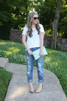 Tee and Boyfriend jeans