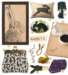 great rabbit-themed design goods for the upcoming holiday from Design Sponge Rabbit Art, Bunny Rabbit, Bunny Care, House Rabbit, Secret Life Of Pets, Honey Bunny, Funny Bunnies, Home And Deco, Second Hand