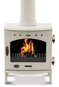Our Cream Enamel Carron Multi-fuel Stove ex-demo display model is now only £480 @ www.woodburners.co.uk - happy days!