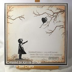 Buzzy Goings on at Bee Crafty Bidford: Kerrie DT - Inspired by Banksy - Girl... Memory