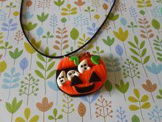 Collier fantomie  en fimo - pendentif - l'atelier tagada - Fait Maison