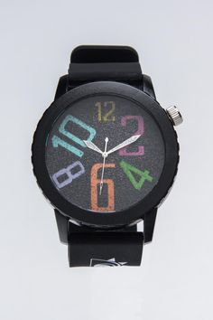 Colored numbers watch face