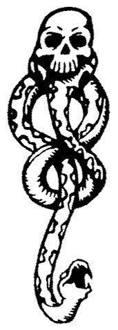 "Dark Mark Temporaray Tattoo by Tattoo Fun. $1.49. This Dark Mark temporary tattoos is the classic image of a skull and snake.\r\n The image size is 1.25""x3.5""\r\nBULK SPECIAL: Buy 20 units or more for just $.25 each! \r\n(11138)\r\n\r\n\r\n"