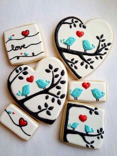Adorable Valentine's Day cookies.