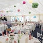 Marquee Wedding Pom Poms