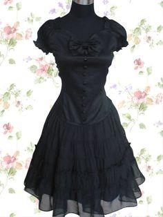 Black Cotton Lace Ruffles Cotton Gothic Lolita Outfits【Donhot.com】-Lolita Dresses-Donhot.com-Fashion and More-Wholesale Fashion Apparel-Donhot.com