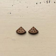 1 Pair Watermelon Slices Laser Cut Bamboo by CraftyCutsLaser  #diyjewellery #makenecklace #makeearrings #makebrooch #makeyourownaccessories #DIYNecklace #lasercutfindings #buylasercutshapes #craftycuts #makeearrings #earringfindings #earringsupplies