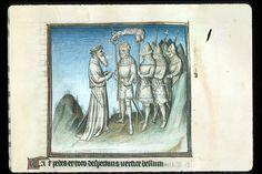 Publius Papinius Statius Thebais , with the argumenta antiqua; Achilleis, Francja, ok. 1405, f56