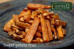 Sweet potatoes are a super food, they are chock-full of disease-preventing, cancer-fighting, and immune-boosting benefits.    We fry ours to make sweet potato fries and they are delicious and perfect with a sandwich or salad.     #sweetpotato #lunch #dinner #food