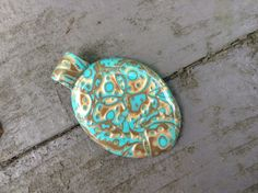 Items similar to Gorgeous OOAK designer BOHO pendant.jewellery supplies handmade polymer pendant with bail on Etsy Jewellery Supplies, Boho Designs, Polymer Clay Beads, Antique Gold, Pendant Jewelry, Teal, Antiques, Handmade, Buttons