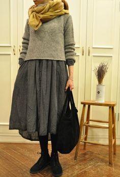 乙女心に秋の空 ・・・ maison de love this entire outfit! Mode Outfits, Fashion Outfits, Womens Fashion, Skirt Outfits, Look Fashion, Winter Fashion, Future Fashion, Mode Inspiration, Japanese Fashion