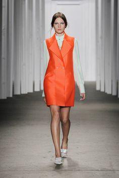 #fashion #honornyc #spring #summer #jacket #sleeveless #orange