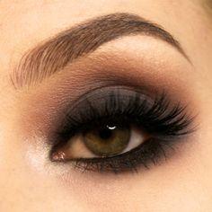 'Black Smoke' look by Kristin using Makeup Geek's Bada Bing, Cocoa Bear, Ice Queen, Peach Smoothie, and Mirage eyeshadows.