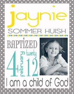 Custom Baptism Subway Art Announcment by emmiecakes on Etsy, $15.00