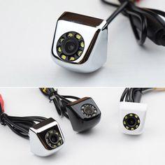 Nova CCD 170 Graus Wide Angle Waterproof Car Câmara de Visão Traseira IR 8 LED Night Vision Câmera de Estacionamento, 4 Camadas de Vidro Da Lente