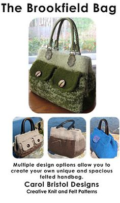 Ravelry: The Brookfield Bag, A Felted Handbag pattern by Carol Bristol