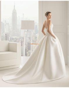 Col en cœur Taffetas Classique & Intemporel Robes de mariée 2015