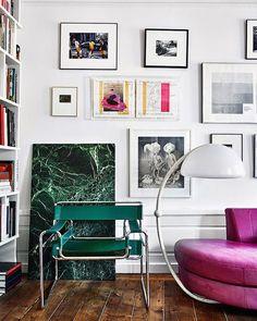 Green Marble Is Perfect Laid Against The Wall With This Gallery Art  Einrichten Und Wohnen,