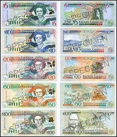The beautiful currency used on The Island of #Nevis