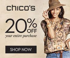 Chico's – Free Sign Up – 20% OFF Coupon – USA Get This Offer: http://www.freestuffcloud.com/chicos-free-sign-up-20-off-coupon.html #Chicos #FreeSignUp #OFFCouponUSA