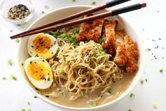 This Easy Miso Ramen recipe is completed in under 30 minutes. There are lots of components and layers to ramen and this is done in a fraction of the time. Easy Miso Ramen Recipe, Ramen Noodle Recipes, Ramen Noodles, Chicken Katsu Recipes, Radish Greens, Boneless Skinless Chicken Thighs, Food Website, Clean Eating Snacks, Easy Meals