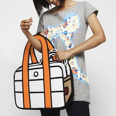 Cartoon-style handbags! Crazy!