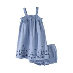 JUST ONE YOU® Made by Carters Infant Girls' 2 Piece Denim Dress Set - Blue