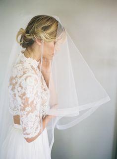 """1 Horsehair Veil Ribbon Edge Wedding Veil Drop by VeiledBeauty  Ideally 42"""" on back with 30"""" on front"""