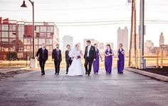 The urban wedding party | Brett Loves Elle Photography