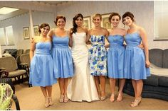 not sure how I feel about the dress but I love how the maid of honor stands out
